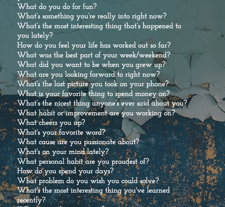 27 Questions to Ask…